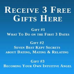 Blue square listing the 3 free gifts