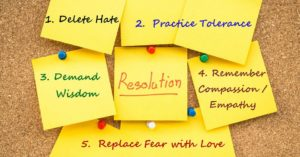 resolution post-it notes