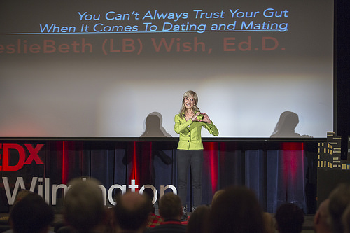 LB Wish during her TEDx Wilmington talk